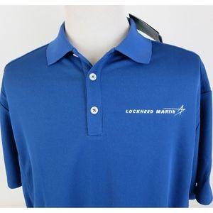 NEW Nike Golf Dri Fit XL Classic Polo Shirt Blue